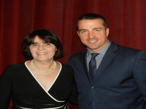 DA Marian Ryan and guest speaker Chris Herren, former NBA Player (photo from Marian Ryan's office)
