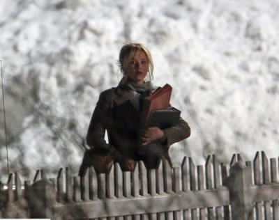 Jennifer Lawrence on 'Joy' set in Wilmington in February (from @JenLawUS on Twitter)