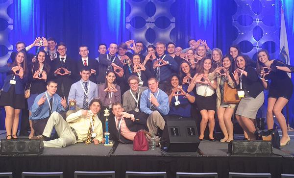 WHS DECA Team at the State Conference in Boston