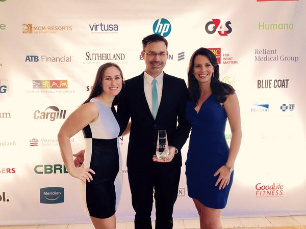 World Traveling Holdings, Inc. proudly accepts 50 Most Engaged Workplaces award. (from @WTH_Inc on Twitter)