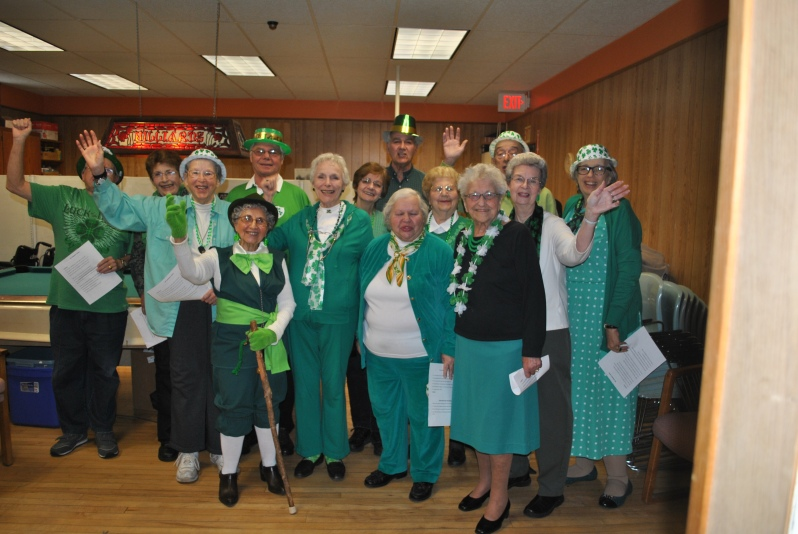 Buzzell Senior Center Fun Singers performed at the Center's St. Patrick's Day luncheon.