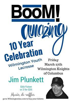 Wilmington Youth Lacrosse Anniversary Party Flyer