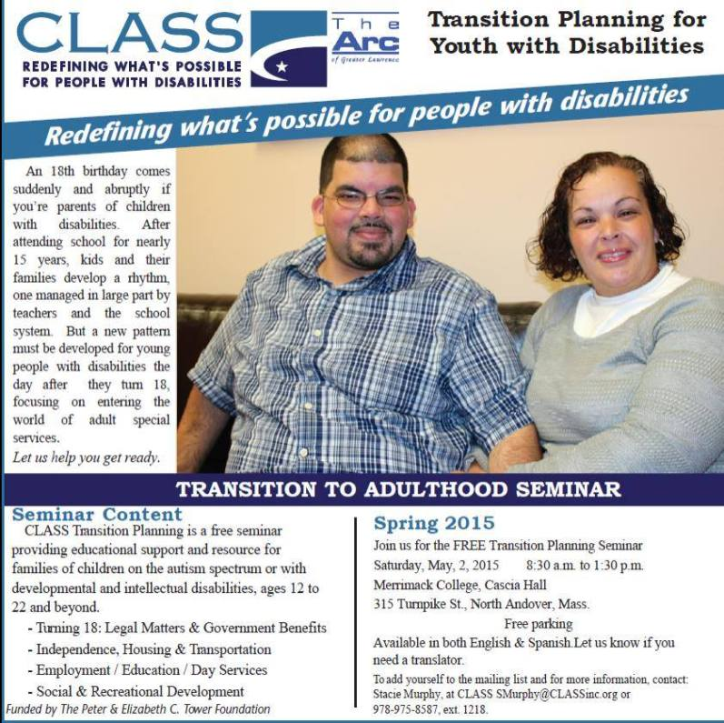 CLASS Transition Planning For Adults Flyer