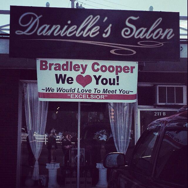 Danielle's Salon really wants Bradley Cooper to pay them a visit.