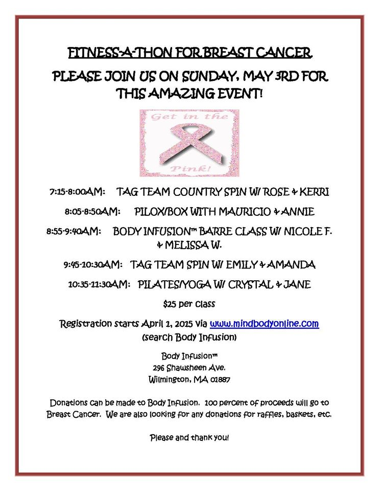 Fitness-A-Thon For Breast Cancer Flyer