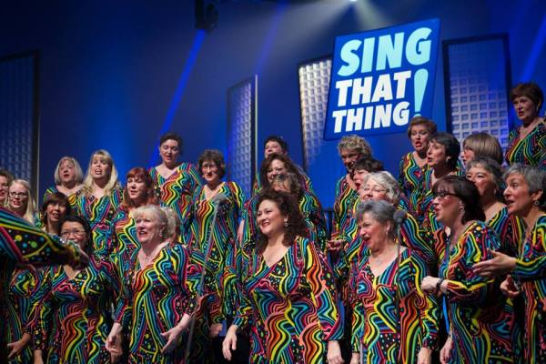 Merrimack Valley Chorus on Sing That Thing (photo credit:  P. Alvarado Nunez)