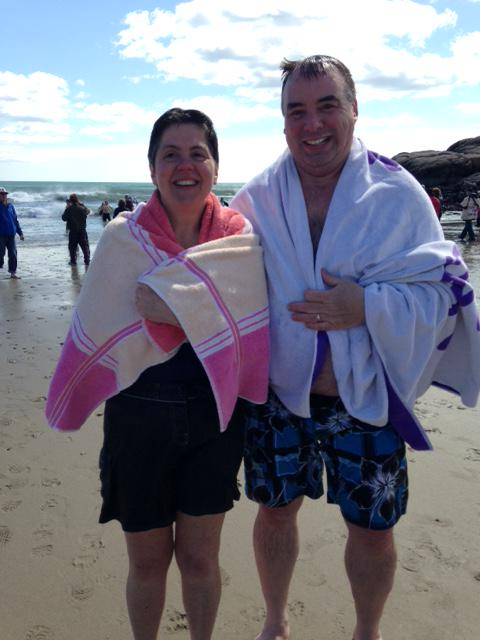 Mary DeLai & George Hooper Taking The Rotary's Polar Plunge