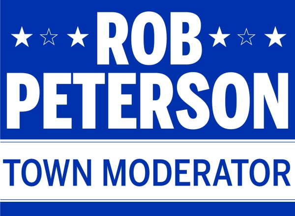 Rob Peterson Lawn Sign