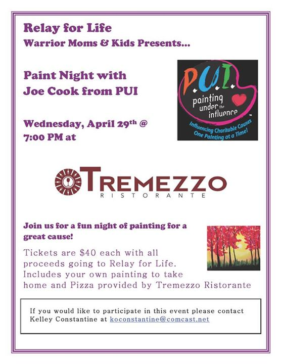 Warrior Moms & Kids -- Paint Night with Joe Cook from PUI