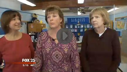 Program Coordinator Karen Campbell, Recreation Director Deb Cipriani, & Senior Clerk Linda Kanter interviewd on Fox 25 News on Wednesday.