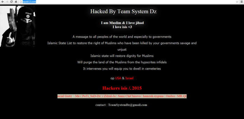 WPS Site Hacked