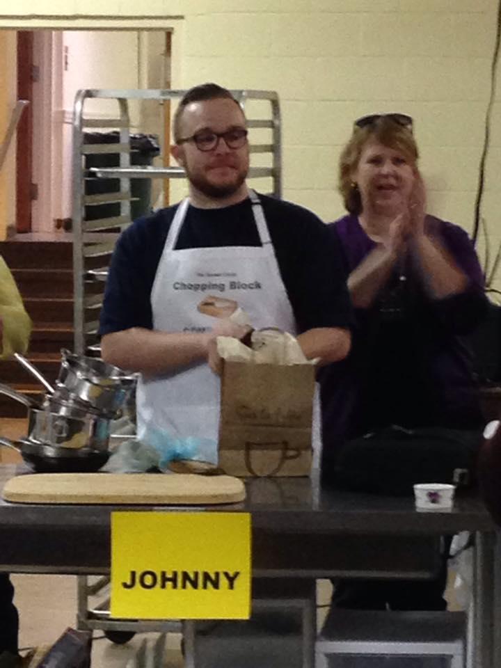 Winner of WUMC's Chopped, Johnny Arvanitis