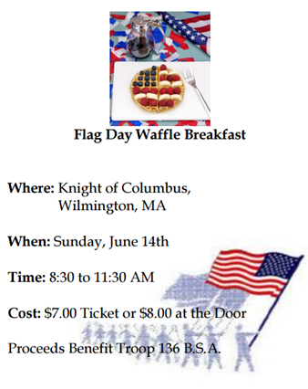 Flag Day Waffle Breakfast