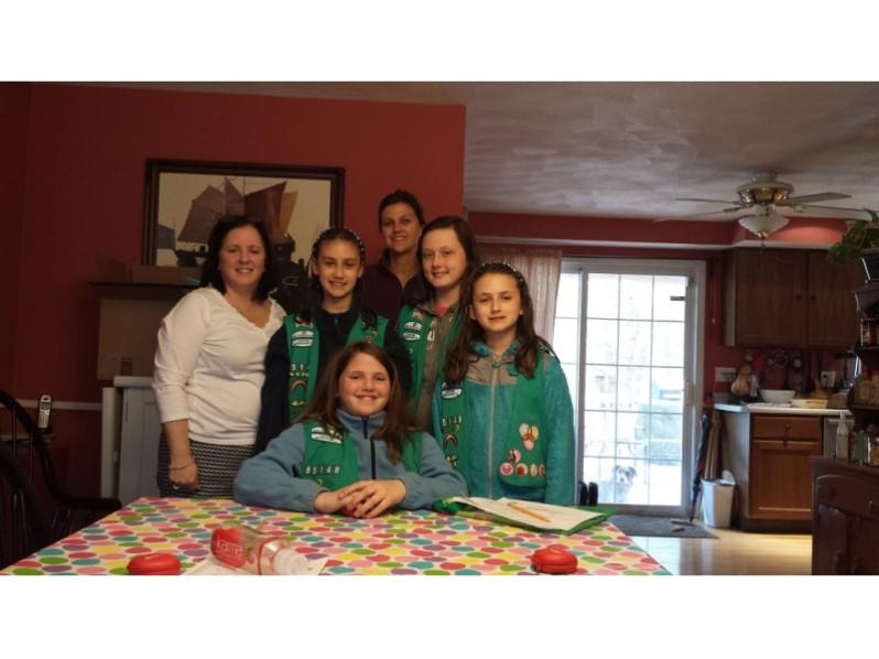 Members of Wilmington Girl Scout Troop #81548