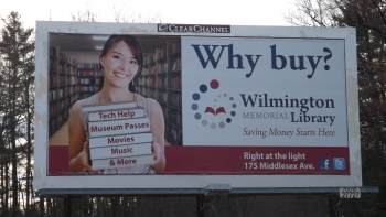 Wilmington Memorial Library Billboard