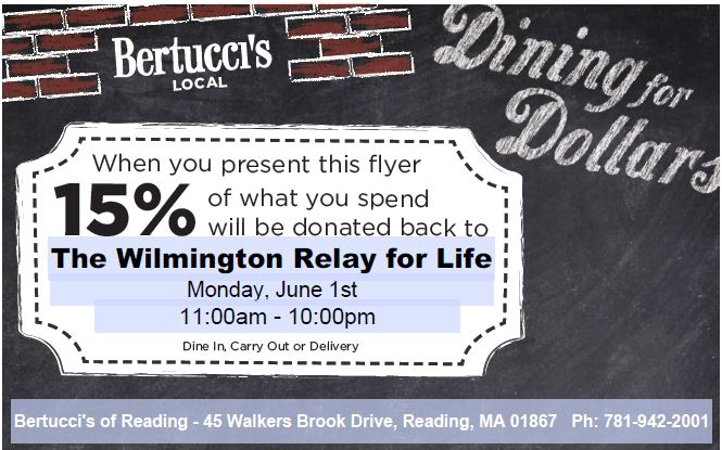 Wilmington Relay For Life - Bertucci's Fundraiser