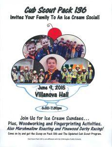 Cub Scout Pack 136 Ice Cream Social