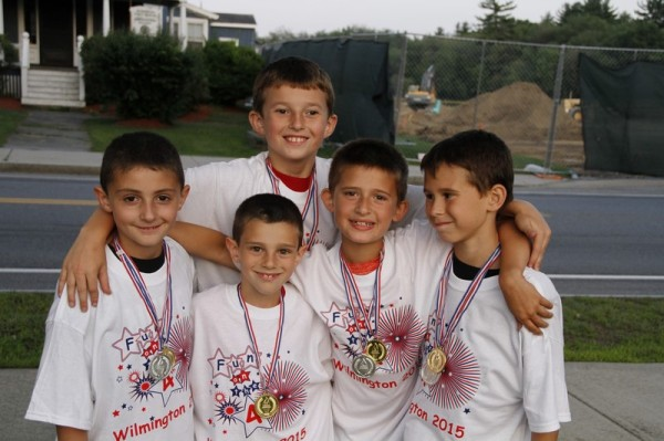 Michael Lanler, Sean O'Donoghue, Evan Johnson, Michael McCarthy, Braeden White (Wiffle Ball Winners, 11 and under)