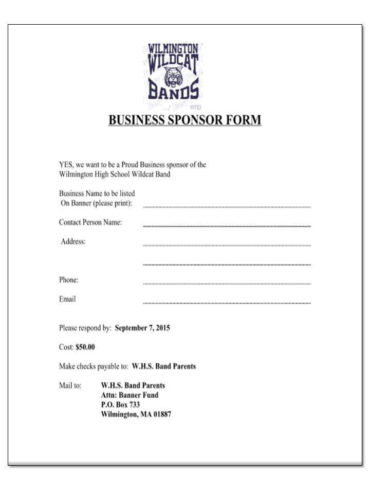 Wilmington high marching band seeks individual business for Band press release template