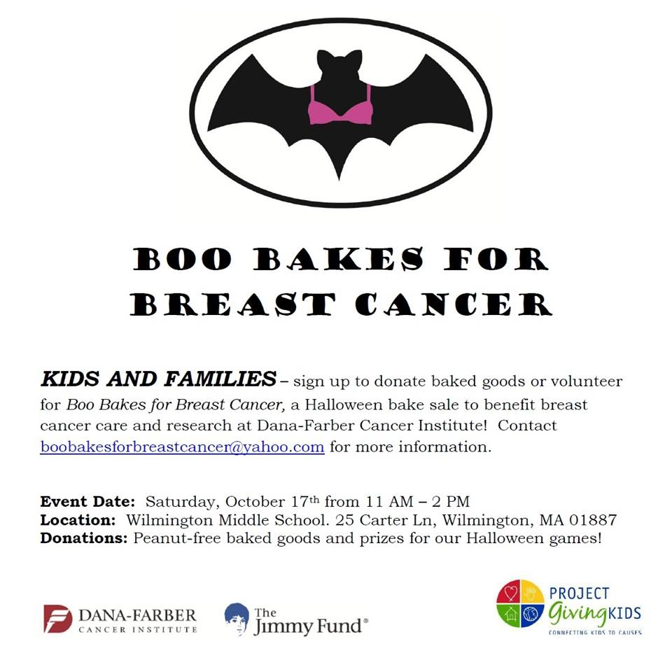 halloween themed bake to support breast cancer research set book bakes for breast cancer flyer