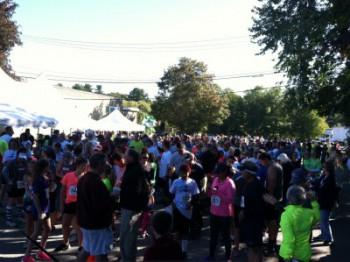 Runners & Walkers Begin To Line Up
