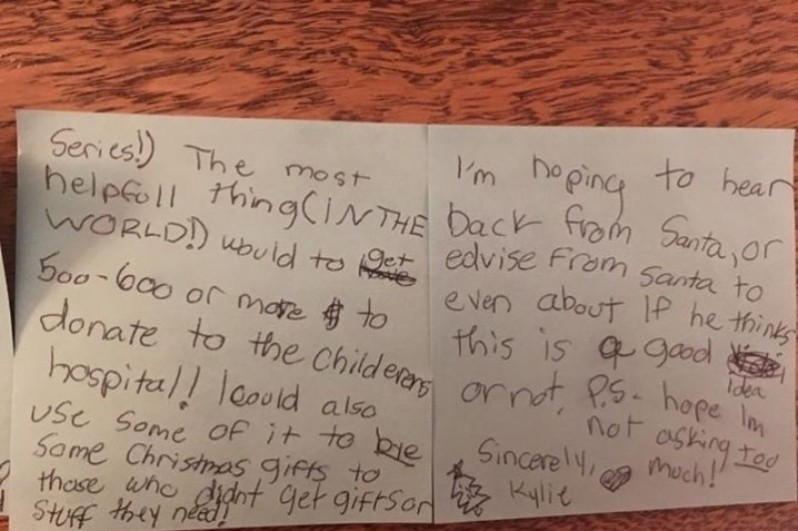 Kylie's Letter