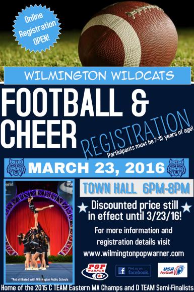 Wilmington Pop Warner Registration