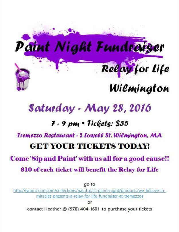 Wilmington Relay Paint Night Fundraiser