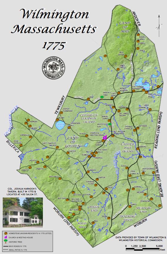 PHOTO Map Of Wilmington Circa 1775 Wilmington Apple