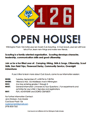 Cub Scouts Pack 126 Open House