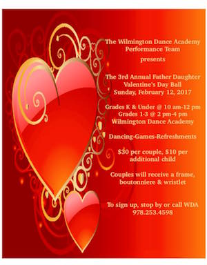 Wilmington Father-Daughter Valentine's Day Ball Set For February 12