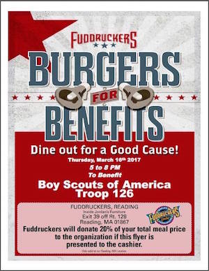 Support Wilmington Boy Scouts Troop 126 At Fuddruckers On March 16