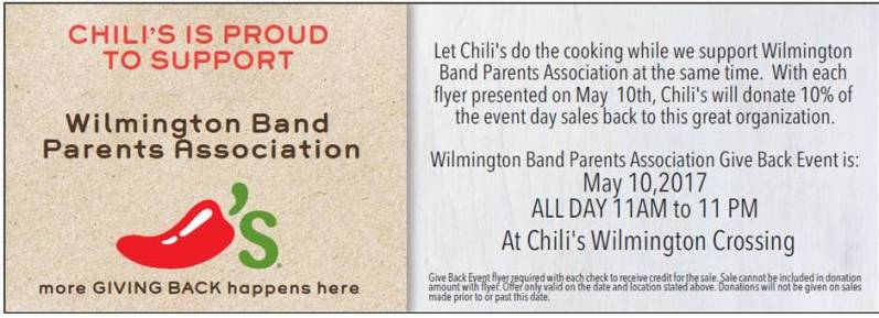 Wilmington Band Parents Association Chili Fundraiser