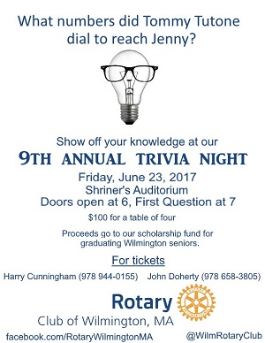 Rotary Trivia Night Flyer