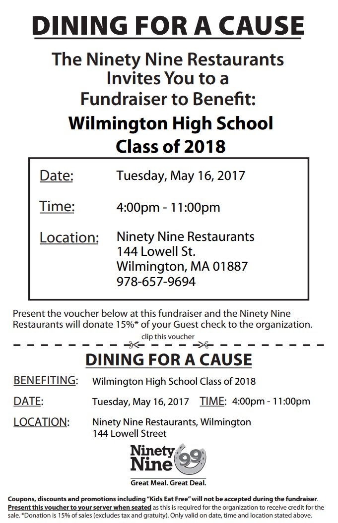 WHS Class of 2018 Dining For A Cause (Large)