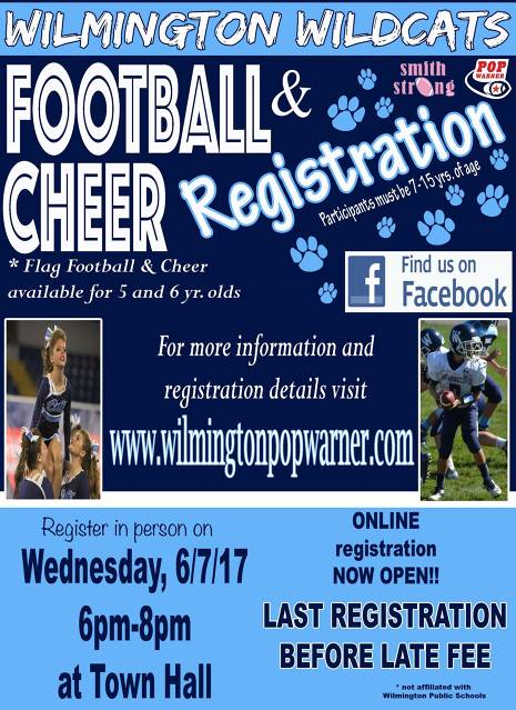 Wilmington Pop Warner Registration