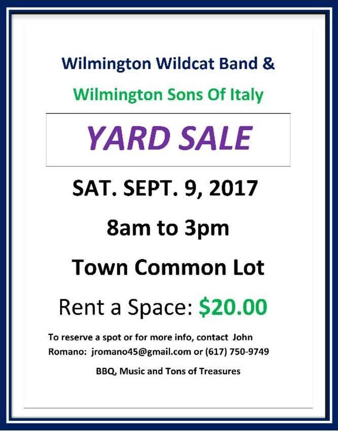 Band Parents Yard Sale (Large)