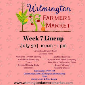 This Week's Wilmington Farmers Market Lineup (July 30)