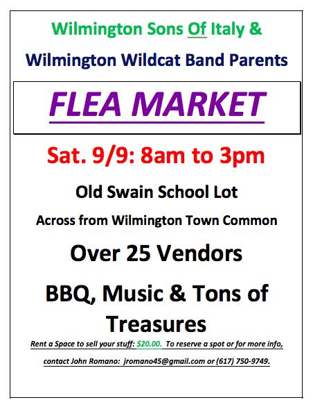 Wilmington Band Parents Flea Market