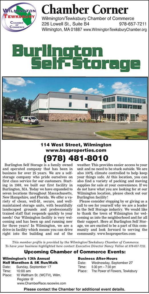 WILMINGTON, MA U2014 The Wilmington Tewksbury Chamber Of Commerce Profiles A  Different Member In The Local Media Each Week. In This Weeku0027s U201cChamber  Corner,u201d The ...