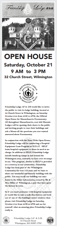 Friendship Lodge Open House