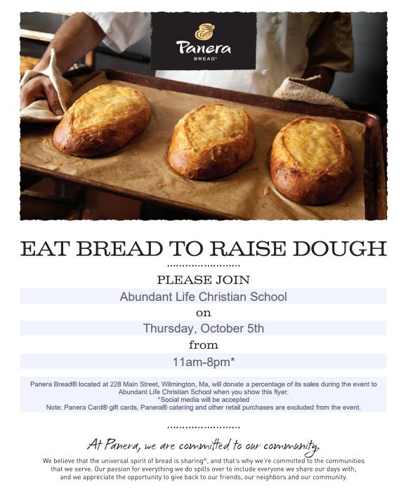 Panera Bread Fundraiser