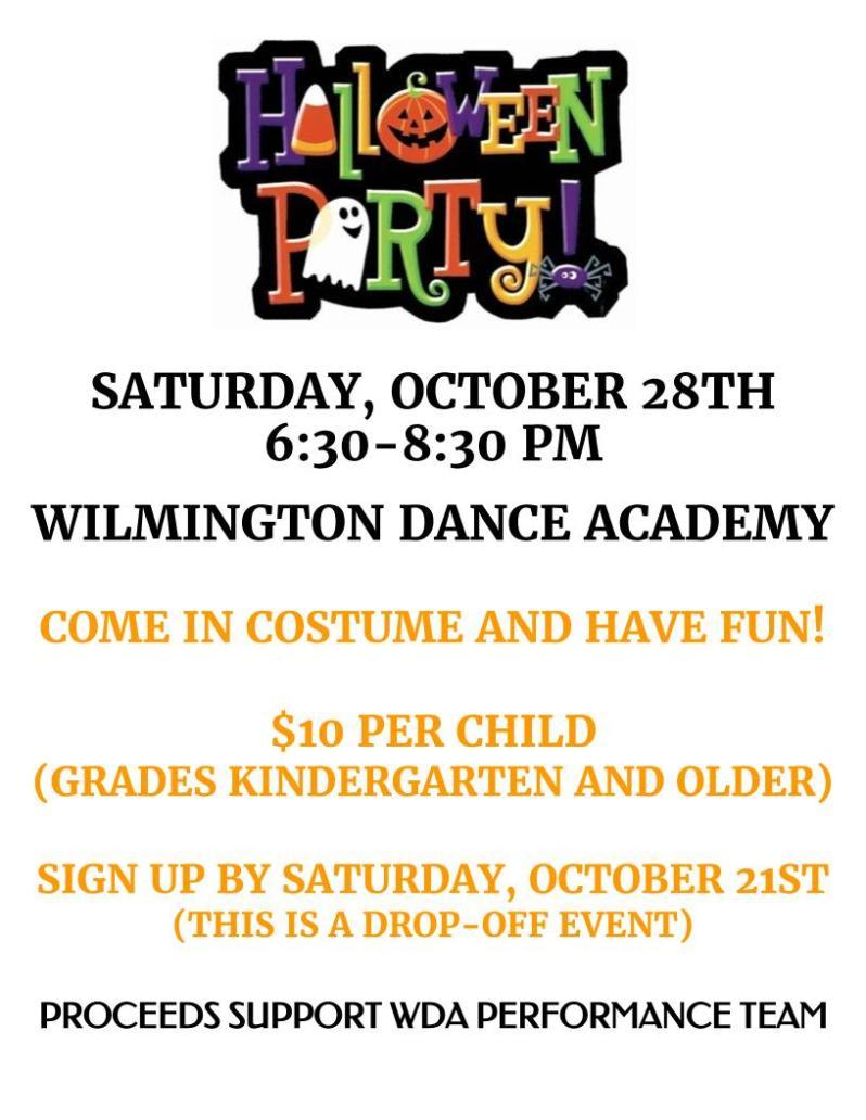 WDA - Halloween Party Flyer