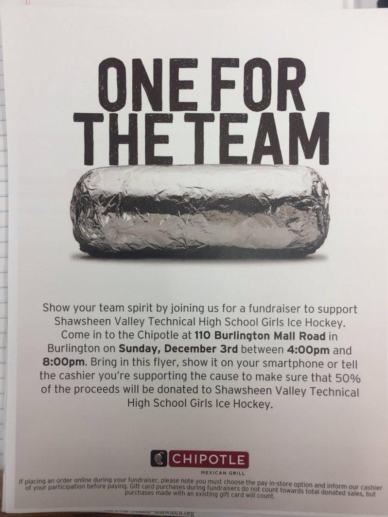SVTH Hockey Team Fundraiser