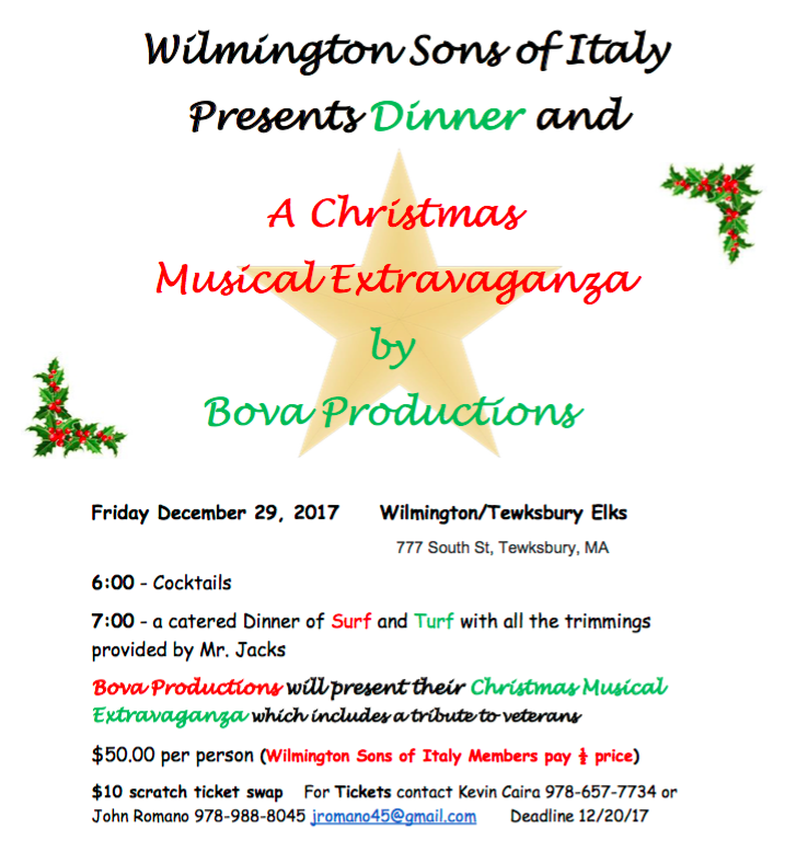 Wilmington Sons of Italy Christmas Extravaganza
