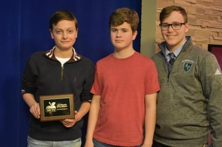 WCTV interns Joey DeSario, Nick Toth & Cam Quinlan