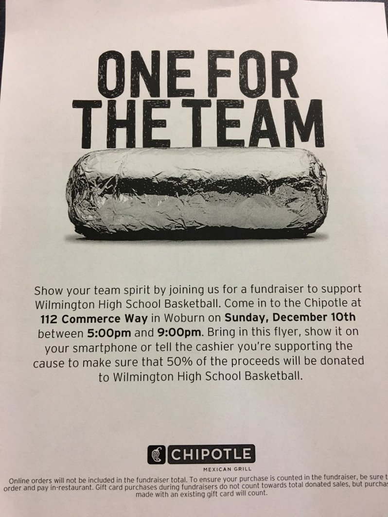 WHS Basketball Chipotle