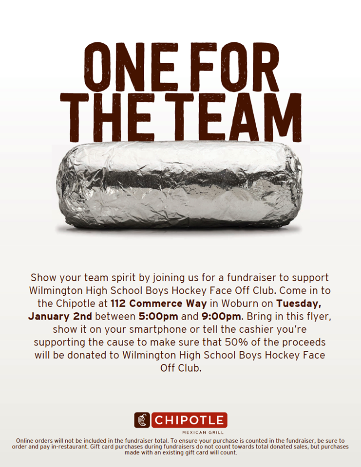 WHS Boys Hockey Chipotle