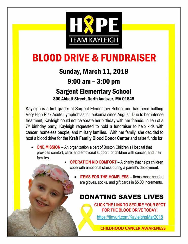 Hope Team Kayleigh Blood Drive