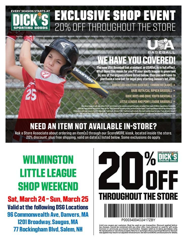 Wilmington Little League Coupon